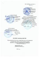 Паспорт безопасности от 6 декабря 2019 года